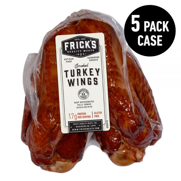 smoked turkey wings, 5 pack case